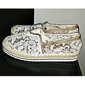 dfc6e0ac1 Madden Girl Shoes - Madden Girl Maui Ivory Lace Espadrilles